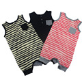 New Born Baby Rompers Sleeveless Baby Boys Clothes Infant Kids Clothes Striped Jumpsuit Baby Girl Romper