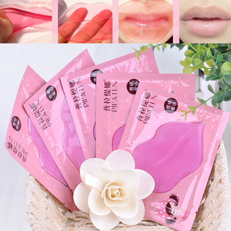 Lips Care Crystal Collagen Lip Mask Pads Moisture Essence Anti Ageing Wrinkle Patch Pad Gel Lip HB-0138(China (Mainland))