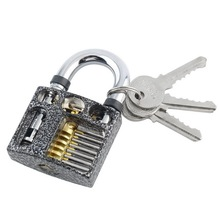 Professional Cutaway Inside View of Practice Padlocks Lock Training Trainer Skill Pick for Locksmith with Keys