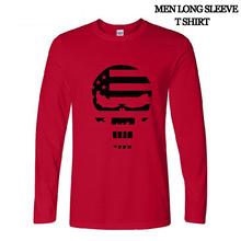 American Sniper Chris Kyle Men T Shirt Punisher Skull Navy Seal Team autumn long sleeve Fashion Top Tee Casual Tshirt S-2XL(China (Mainland))