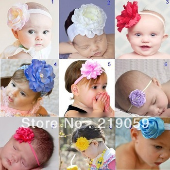 Free shipping mixed order over10usd baby flower headbands infant cotton hair band baby cotton head scarf baby headwear headdress