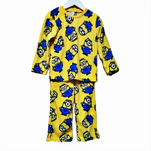2016 New Arrival Print Clothes for Children  Boys girls Minions Pajama Set Kids Long Sleeve christmas Clothing Sets 4~10 years(China (Mainland))