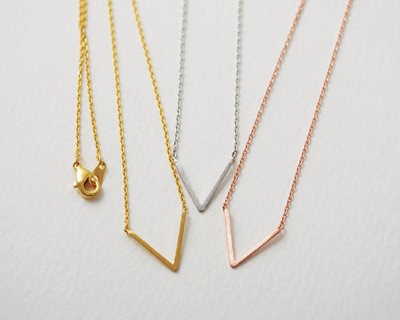Fashion V letters necklaces, symbolic victory V necklaces for women wholesale free shipping<br><br>Aliexpress