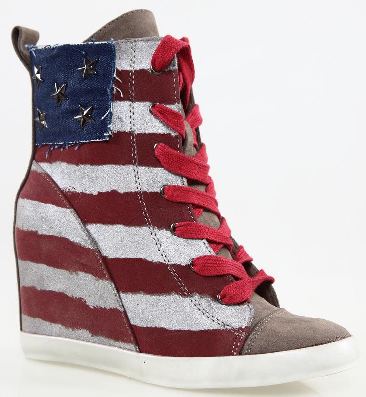 and stripes american flag retro finishing elevator