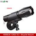4000lm bike light CREE T6 zoom flashlight torch LED Cycling Bike Bicycle Front Head Light Bicycle