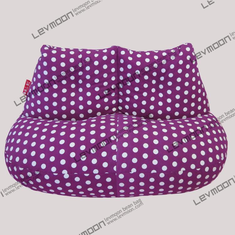 FREE SHIPPING green dot beanbag chair modern loveseat 100% cotton canvas fabric bean bag chair bean bag sofa bean bag cover(China (Mainland))