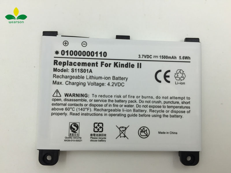 100% Original S11S01A Battery For Kindle 2 kindle DX ebook Battery 1500mAh Free Shipping+Track Code(China (Mainland))