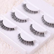 3 Pairs Free shipping Real Thick cross Lashes False Eyelashes Cross the messy Styles Handmade Eyelash eye lashes