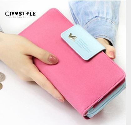 2016 Hot sell wallet lady bird clasp zero wallet phones hitting scene bag handbag women's bag zipper&Hasp large capacity of new(China (Mainland))