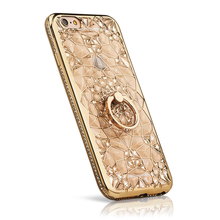Buy Coque iPhone 6 Cases Glitter 3D Crystal Soft Plastic Cover Silicon Girly Bling Rhinestone Case iPhone 6s Stand Cover 6 + for $3.18 in AliExpress store