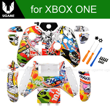 Custom Hydro Dipped StickerBomb Controller Shell Mod Kit For Microsoft Xbox One 1 Wireless Controller Full Housing Shell Case