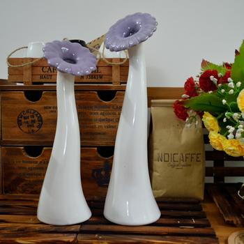 (sef of 2) Rustic Vase, Rose Ceramic Vase - sunflower style, perfect for home decoration and interior beautiful decorative vase