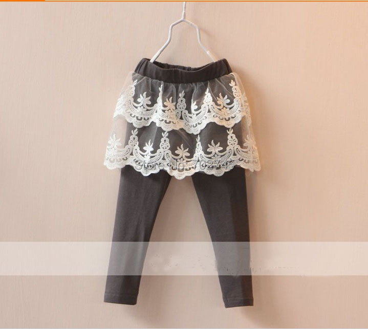 2015 Girl Legging Lace Cotton Elastic Waist 2-7T 10643