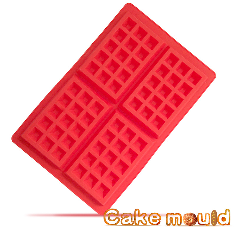 4. Even the shape of the chocolate cake mold chocolate pudding production tools baking products silicone mold biscuits mold tool(China (Mainland))