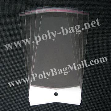 clear Opp Bag in size 8x13.5cm with self adhesive seal and with hanging header & Free Shipping
