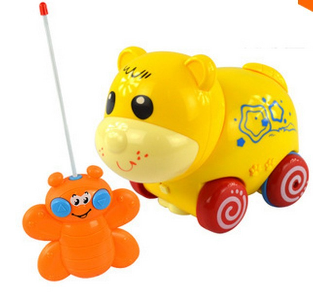 2015 New Arrival Remote Control toys electric pet toys for gift kids baby RC Animal bear dog Music Toys(China (Mainland))