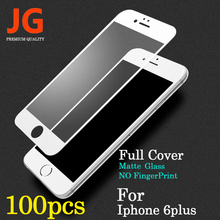 JG 100pcs/lot Front Full Screen Protection Tempered Glass for Apple iPhone 6 Screen Protector 6plus Film 5.5 inch 9H Hardness