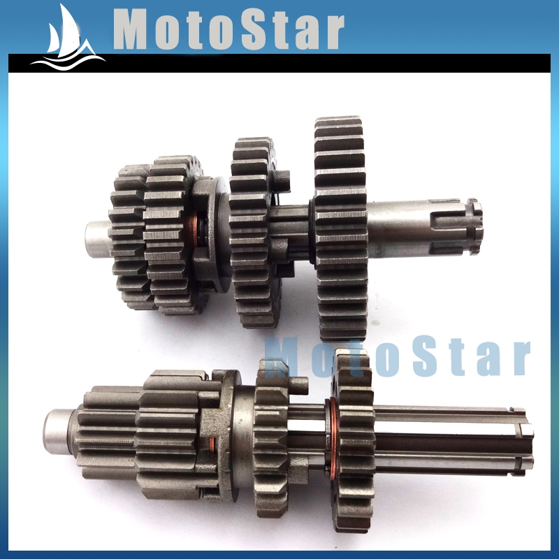 YX110 YX125 Transmission Gear Box Main Counter Shaft Parts For Chinese YX 110cc 125cc Engine Motorcycle Pit Dirt Motor Bike(China (Mainland))