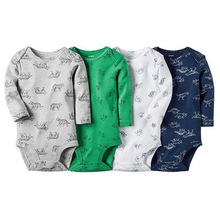 Body Romper Cotton macacao Carters Baby Costume Newborn Baby Romper Vestidos Body Suit Boy Clothes 4 Pcs/lot baby-clothing-china(China (Mainland))