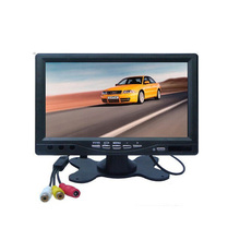 7 Inch Color TFT LCD Display DC 12V Car Rear View Headrest Monitor For DVD Reversing Camera  800 x 480 with Remote Controller(China (Mainland))