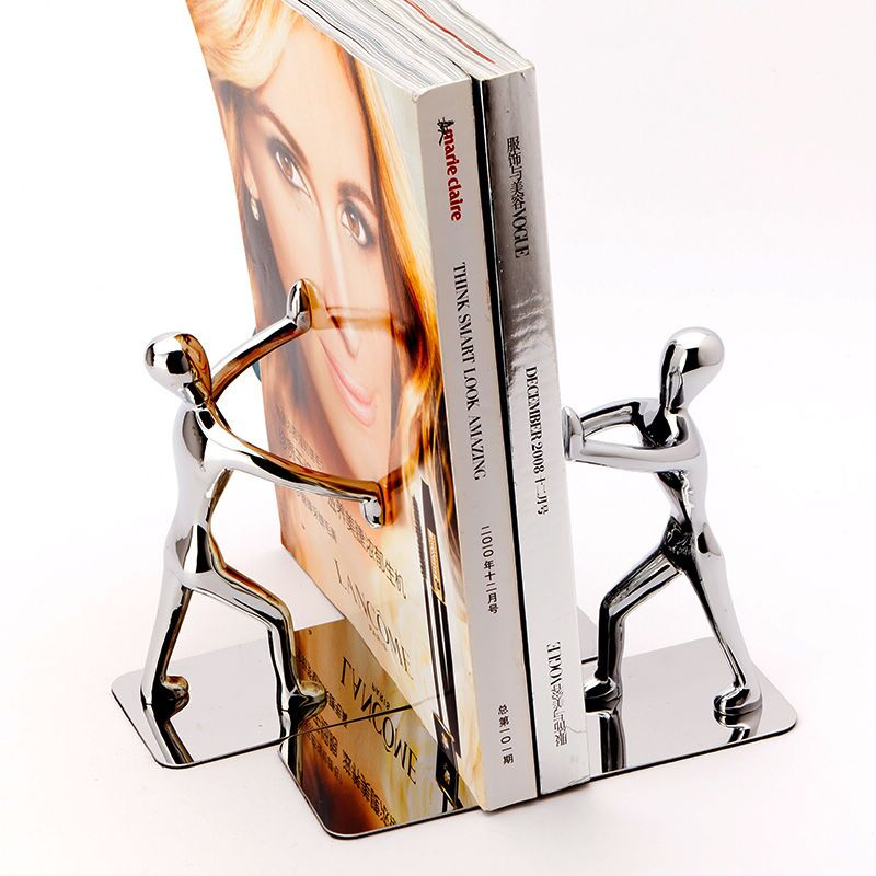 Stainless humanoid creative Book stand