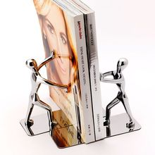 Stainless humanoid creative Bookstand European Book clip kung fu bookshelf book by book Decoration bookend