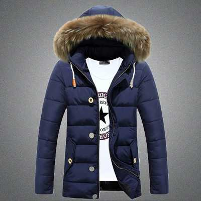 Фотография Man Plus size New Casual White Duck Down Jacket Winter Coat Down & Parkas 2014 Parka Men Men