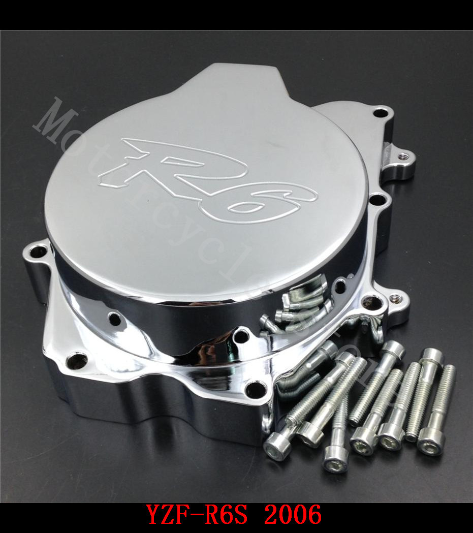 Fir for Yamaha YZF R6S YZF-R6S 2006 Motorcycle Engine Stator cover Chrome left side(China (Mainland))