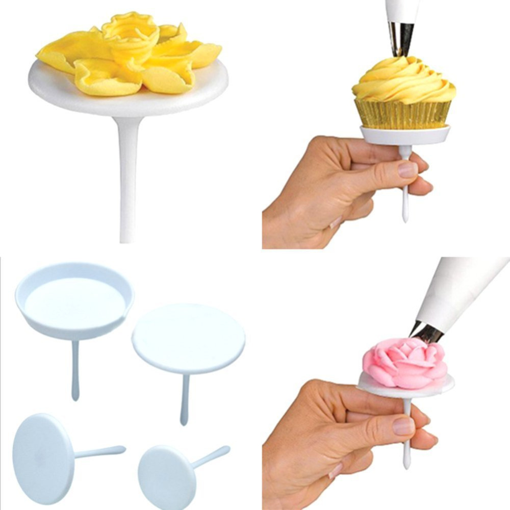 Cake Decorating Nail Set : 4Piece/set New Sugarcraft Cupcake Cake Stand Icing Cream ...