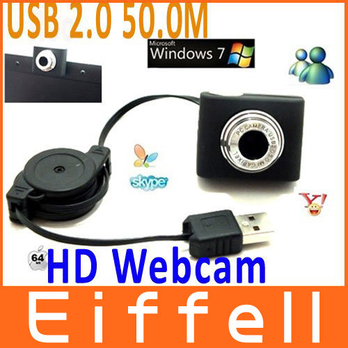 USB 2.0 50.0M Mini PC Camera HD Webcam Camera Web Cam for Laptop Free Shipping(China (Mainland))