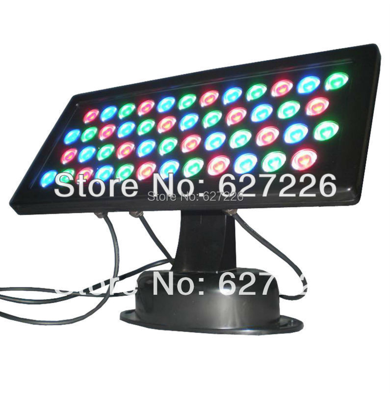 48W RGB colorful LED Flood Lights AC85-265V Flood light lamp IP65 Waterproof utdoor Landscape Lighting 3 channels DMX512 Control(China (Mainland))
