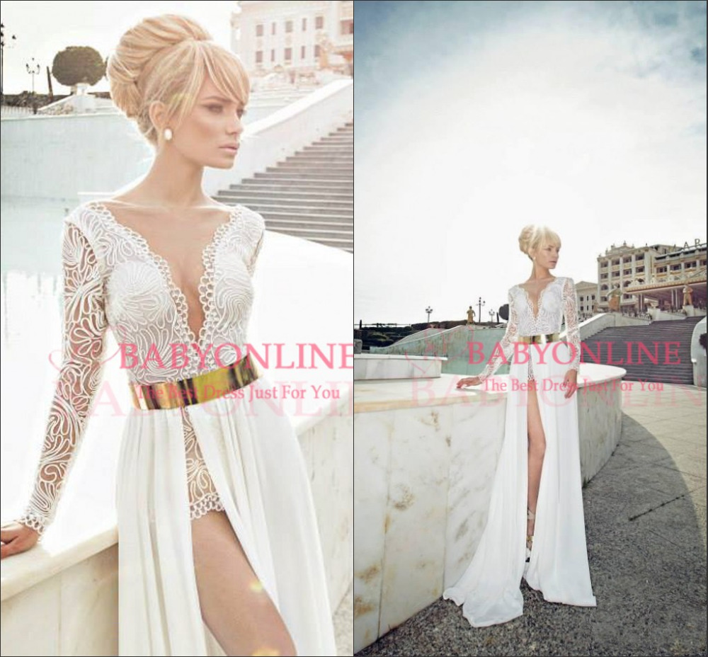 long white dresses with long sleeves with gold « Bella Forte Glass ...
