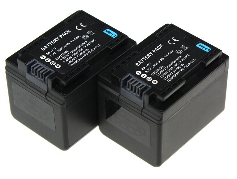 TianFen 1Pcs BP 727 BP 727 Camera Battery for Canon BP 718 VIXIA HF M50 M500