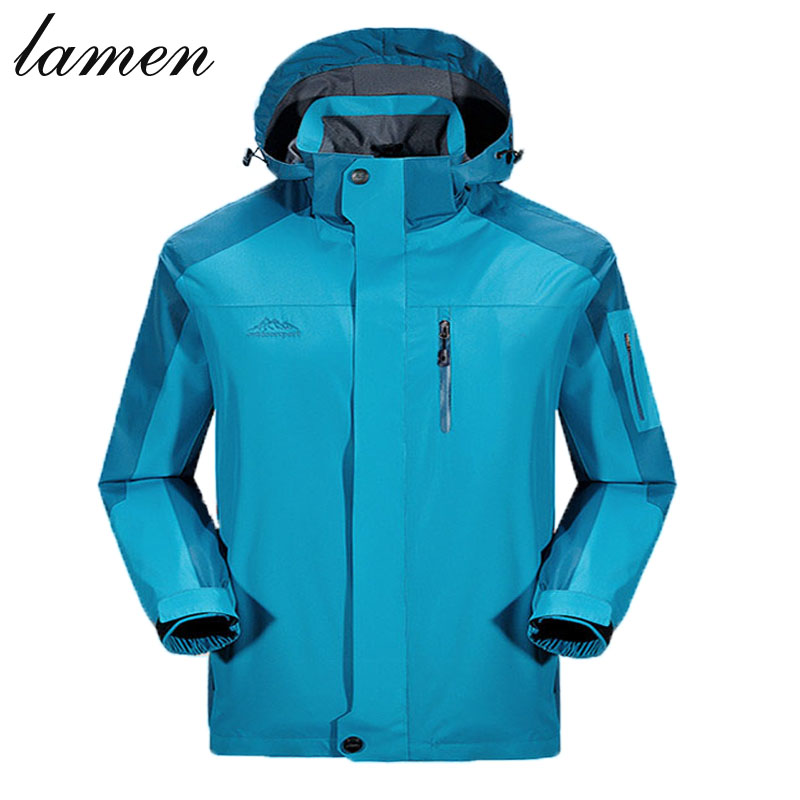 New Brand Jacket Men and women Trend Patchwork Fit Mens Designer Casual outdoor sports Waterproof Jacket plus size 4XL,5XL coat(China (Mainland))