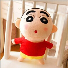 "Free Shipping 1pcs 25cm 10"" Naughty Crayon Shin Chan Stuffed Plush Doll Japanese Anime Shin-chan Action Figure For Best Gift(China (Mainland))"
