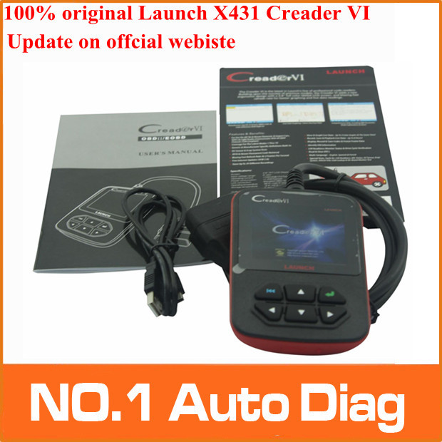 Promotion 2015 100% original Online-Update Color screen Launch Creader 6 OBD2 Code reader, Launch creader VI with best price(China (Mainland))