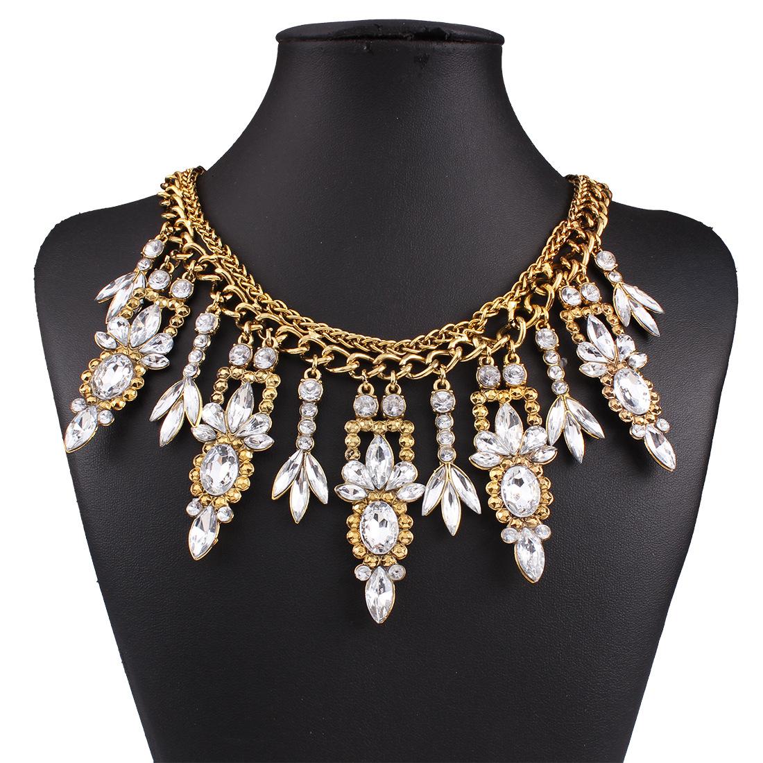 2016 new fashion koly big chunky necklace collie