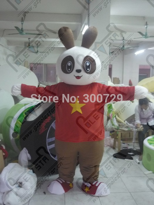 export high quality Panda eyes bunny mascot costumes(China (Mainland))