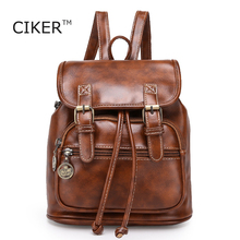 QINGMU 2016 new women fashion designer brand backpacks vintage leather shoulder bag retro small lady schoolbag mochila cute bags(China (Mainland))