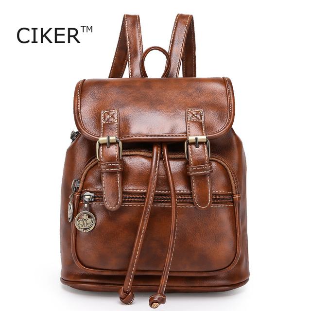 Qingmu 2016 новых мужчин мода дизайнерский бренд рюкзаки старинные кожаный мешок ...