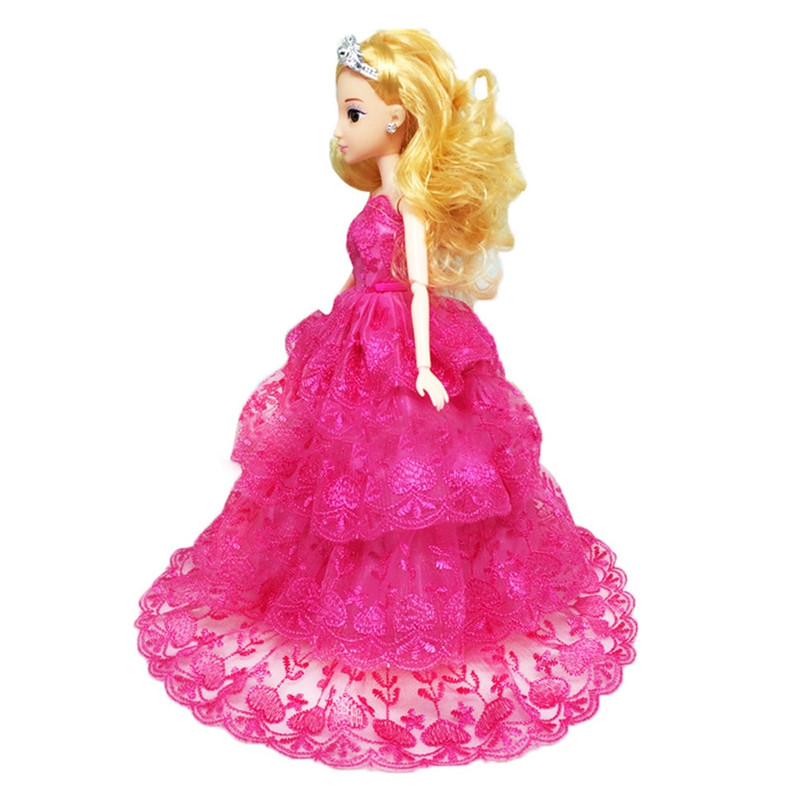 Princess Gown for Barbie Doll Multi-lace Night Get together Garments Wears Gown Outfit Set Material for Barbie Doll Reward for Women