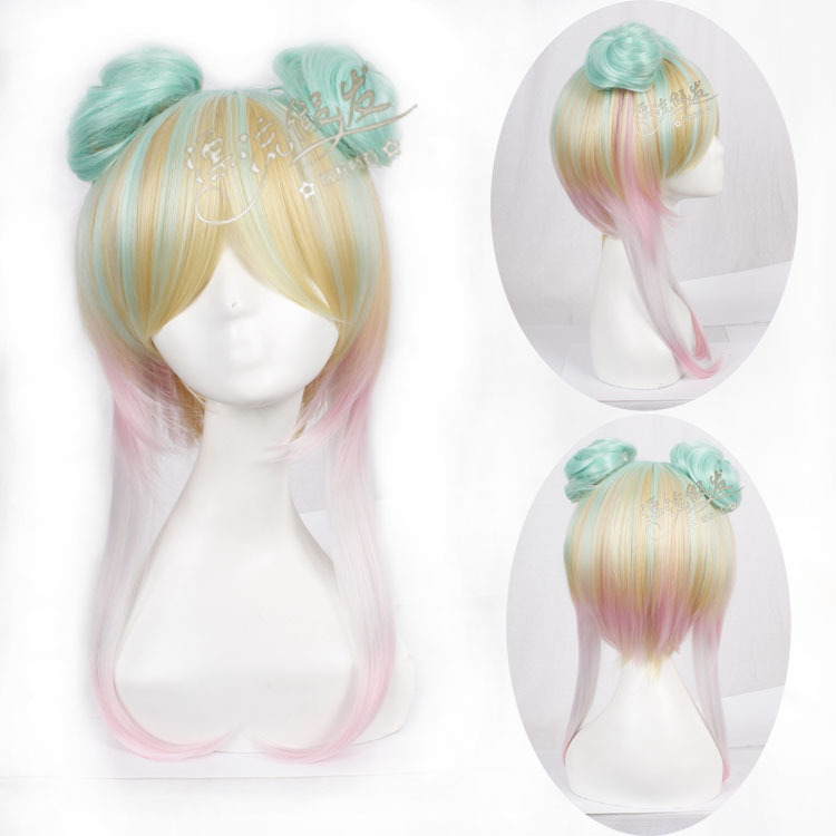 Гаджет  Drifting wig Harajuku wig lovely type of high temperature silk bag with ontology None Изготовление под заказ