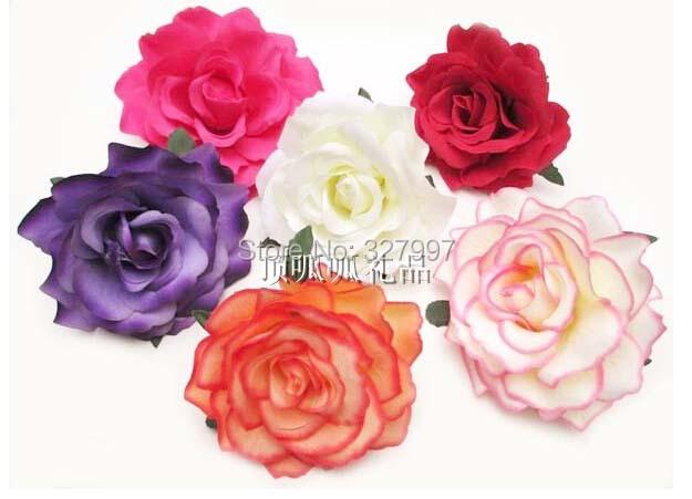 Hotsale bohemia artificial silk rose flower crosage DIY decoration hat shoes bag clothes wedding pin 25pcs/lot(China (Mainland))