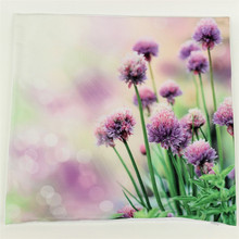 Purple Flowers 3D Print Throw Pillowcase Cushion Cover