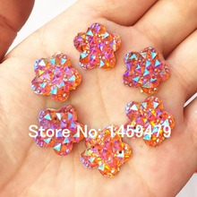 Resin all over the sky star 120pcs Orange Color AB 16mm plum blossom Sewing For Wedding Dress Garments Bags Jewelry Accessory(China (Mainland))