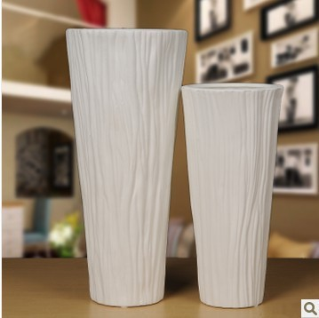 White vase living room minimalist modern home decorations ornaments crafts creative fashion floor vase