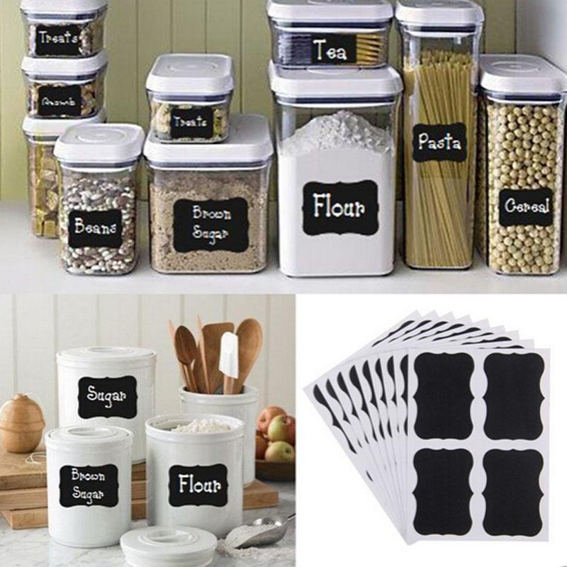 Krijtbord Keuken Kopen : Chalkboard Jar Labels Stickers