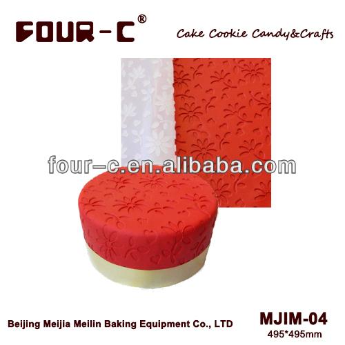 Daisy silicone impression mat,embossed mat,decoration pad fondant cake decorating tools good quality free shipping(China (Mainland))