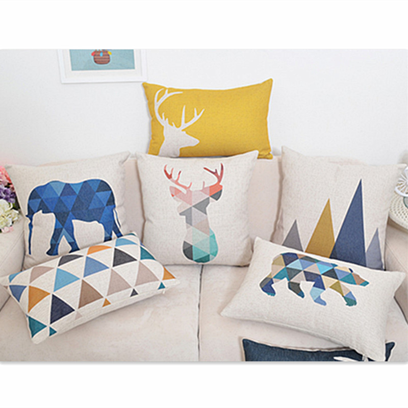 Decorative Pillow Cover Sets : Animals printing Home Decorative Pillow Covers Room Decors Car Throw Cushion Covers bedding Set ...