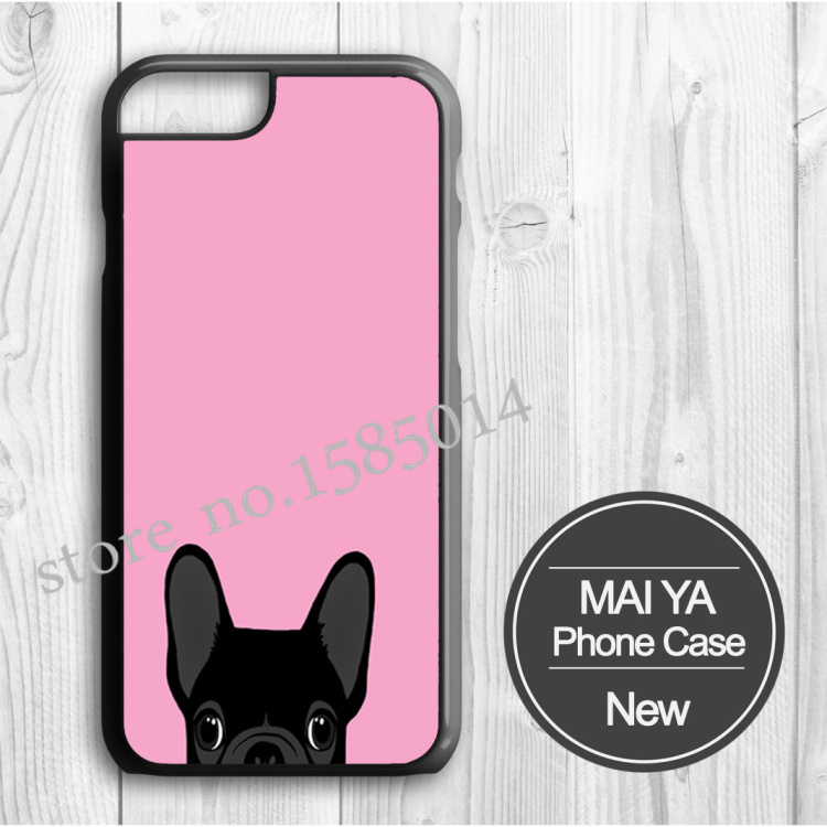 New Arrive French Bulldog luxury case Hard Plastic Original case for Iphone 4 4s 5 5S 5C 6 6 puls Cover With One Free Gift(China (Mainland))